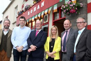 Paddy Rohan (Rohan Bar) Sarsfields Street Nenagh a Sponsor of North Tipperary Agricultural Show with Show Committee members (l to r) Padraig McSweeney, Paddy Rohan (Sponsor), Conor Delaney  (Chairperson), Eavan Carmody (Secretary), Declan Lee and Billy McNamara.  Photograph: Bridget Delaney